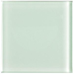 U.S. Ceramic Tile Color Collection Blanco 2 in. x 2 in. Skin Pack Glass Wall Tile (.1076 sq. ft. / pack)