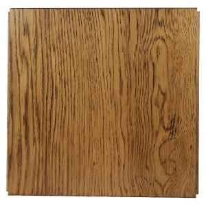 Ludaire Speciality Tile Hickory Natural (Wire Brushed) Engineered Hardwood Tile Flooring -12 in. x 12 in. Take Home Sample