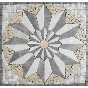 MS International Venti Blend Medallion 12 in. x 12 in. Tumbled Marble Floor & Wall Tile