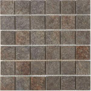 MARAZZI Granite 12 in. x 12 in. Graphite Porcelain Mesh-Mounted Mosaic Tile
