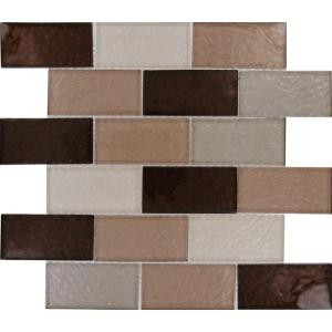 MS International Ayres Blend 2 in. x 4 in. Multi Glass Mesh-Mounted Mosaic Tile