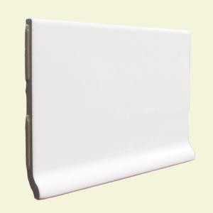 U.S. Ceramic Tile Color Collection Matte Snow White 3-3/4 in. x 6 in. Ceramic Stackable Cove Base Wall Tile