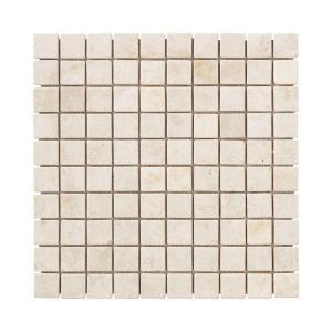 Jeffrey Court Creama Mosaics 12 in. x 12 in. Marble Kitchen Wall / Floor Tile