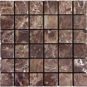 MS International 12 in. x 12 in. Emperador Dark Marble Mesh-Mounted Mosaic Tile