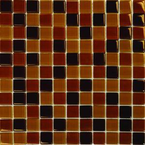 MS International 1 In. x 1 In. Brown Blend Glass Mosaic Floor & Wall Tile