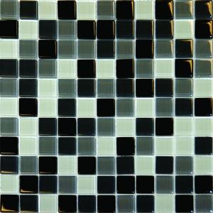 MS International 1 In. x 1 In. Black Blend Glass Mosaic Floor & Wall Tile