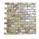 Splashback Tile Baroque Pearls Mini Brick Pattern Tile - Tile Sample