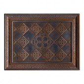 EXPO Castle Metals 12 in. x 16 in. Wrought Iron Metal Clover Mural Wall Tile