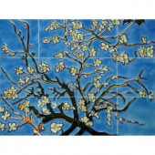 overstockArt Van Gogh, Branches of an Almond Tree in Blossom Mural 18 in. x 24 in. Wall Tiles