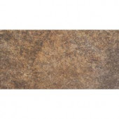 MARAZZI 6 in. x 12 in. Granite Marron Porcelain Floor and Wall Tile
