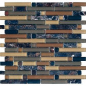 EPOCH Varietals Rioja-1651 Stone And Glass Blend Mesh Mounted Floor & Wall Tile - 4 in. x 4 in. Tile Sample