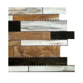 Splashback Tile Matchstix Mockingbird Glass Floor and Wall Tile - 6 in. x 6 in. Tile Sample