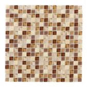 Jeffrey Court Vintage Merlot 12 in. x 12 in. Glass Wall & Floor Tile