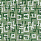Mosaic Loft Links Verdure Motif 24 in. x 24 in. Glass Wall and Light Residential Floor Mosaic Tile