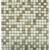 MS International 5/8 In. x 5/8 In. Noche/Chiaro Travertine Micro Mosaic Floor & Wall Tile
