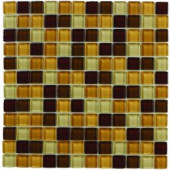 Jeffrey Court Milano Russo Medley 12 in. x 12 in. Glass Wall Tile