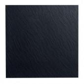 ROPPE Slate Design Black 19.69 in. x 19.69 in. Dry Back Tile