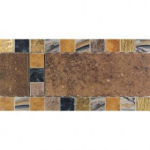 Daltile Terra Antica Rosso 6 in. x 12 in. Porcelain Decorative Accent Floor and Wall Tile