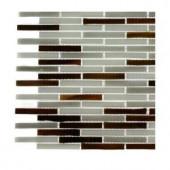 Splashback Tile Matchstix Chandartal River Glass Tile - 6 in. x 6 in. Tile Sample
