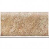 Daltile Del Monoco Adriana Rosso 6 in. x 13 in. Glazed Porcelain Cove Base Floor and Wall Tile