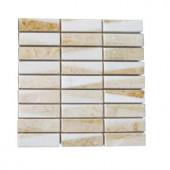 Splashback Tile Great Ulysses Marble Floor and Wall Tile - 6 in. x 6 in. Tile Sample