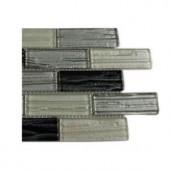 Splashback Tile Gemini Zodiac Blend 1 in. x 3 in. Glass Tiles - 6 in. x 6 in. Tile Sample