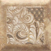 Daltile Del Monoco Adriana Rosso 6-1/2 in. x 6-1/2 in. Glazed Porcelain Decorative Accent Floor and Wall Tile