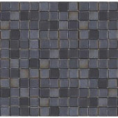 EPOCH Metalz Tungsten-1010 Mosiac Recycled Glass Mesh Mounted Floor & Wall Tile - 4 in. x 4 in. Tile Sample