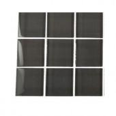Splashback Tile Contempo Smoke Gray Polished Glass - 6 in. x 6 in. Tile Sample