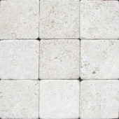 MS International 4 In. x 4 In. Tumbled Chiaro Travertine Floor & Wall Tile