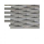 Splashback Tile 3D Reflex Athens Grey Stone Tiles - 6 in. x 6 in. Tile Sample