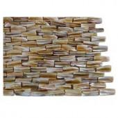 Splashback Tile Baroque Pearl 3D Brick Pattern Mosaic Tile - 6 in. x 6 in. Tile Sample