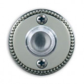 Heath Zenith Wired Lighted Polished Brass Finish Push Button