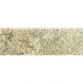 Daltile Folkstone Slate Sandy Beach 3 in. x 12 in. Porcelain Bullnose Floor and Wall Tile