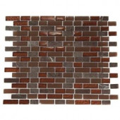 Splashback Tile Brick Pattern 12 in. x 12 in. Marble and Glass Mosaic Floor and Wall Tile