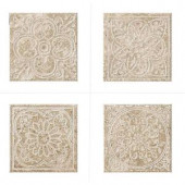 MARAZZI Montagna Lugano 6 in. x 6 in. Porcelain Embossed Deco (Receive 1 of 4 Random Decos - Sold as Singles)