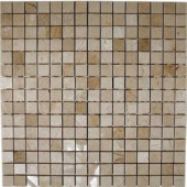 Splashback Tile Crema Marfil Squares 12 in. x 12 in. Marble Floor and Wall Tile