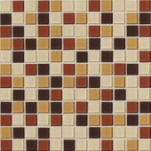 Daltile Isis Amber Blend 12 in. x 12 in. x 3mm Glass Mesh-Mounted Mosaic Wall Tile (20 sq. ft. / case)