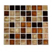 Splashback Tile Lima Bean 3/4 in. x 3/4 in. Glass Tile - 6 in. x 6 in. Tile Sample