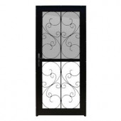 Unique Home Designs Coventry 36 in. x 80 in. Black Outswing All Season Security Door