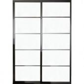 Contractors Wardrobe Silhouette 72 in. x 81 in. 5-Lite 2-Panel Aluminum Bronze Interior Bypass Door