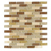 Jeffrey Court Sunwashed Mini Brick 12 in. x 12 in. Glass Wall and Floor Tile