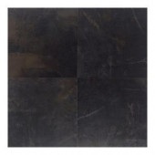 Daltile Concrete Connection Downtown Black 20 in. x 20 in. Porcelain Floor and Wall Tile (16.27 q. ft. / case)