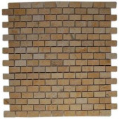 Splashback Tile Jer Gold Bricks 12 in. x 12 in. Natural Stone Floor and Wall Tile