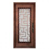Iron Doors Unlimited Bel Sol Full Lite Painted Heavy Bronze Decorative Wrought Iron Entry Door