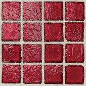 Daltile Egyptian Glass Crimson 12 in. x 12 in. x 6mm Glass Face-Mounted Mosaic Wall Tile (11 sq. ft. / case)