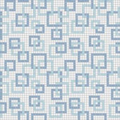 Mosaic Loft Links Cool Motif 24 in. x 24 in. Glass Wall and Light Residential Floor Mosaic Tile