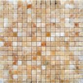 MS International 5/8 In.x5/8 In. Honey Onyx Polished - 12 In.x12 In. Sheet