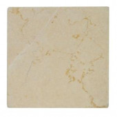 Jeffrey Court Light Travertine Tumbled 4 in. x 4 in. Floor/Wall Tile (1pk/9pcs-1 sq. ft.)