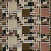 Daltile Fashion Accents Copper Fortress Blend 12 in. x 12 in. Glass and Stone Blend Mosaic Wall Tile